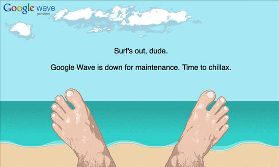 Google wave maintenance page