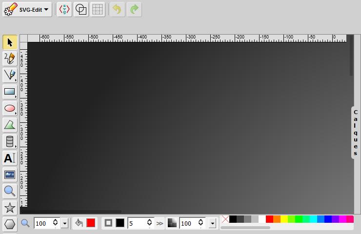 Accéder à la démonstration en ligne de SVG-edit